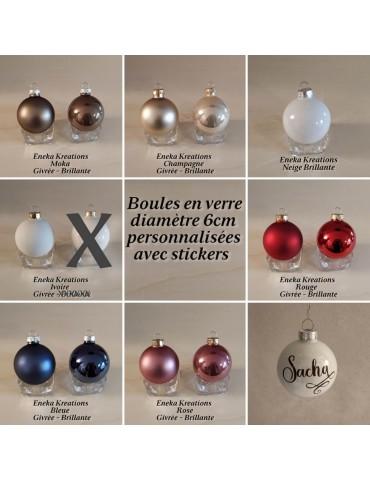 Boules de Noël en verre...