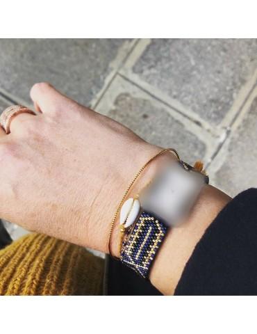 Bracelet tissé perles Miyuki pour montre Poiray ou OJ Perrin