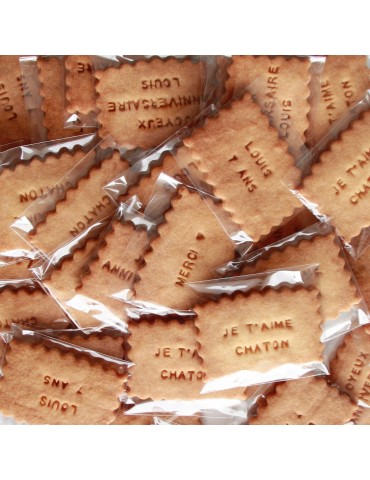SACHET 1 BISCUIT PERSONNALISE PROVIDENCIA