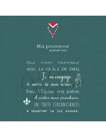 Scoutisme - la promesse