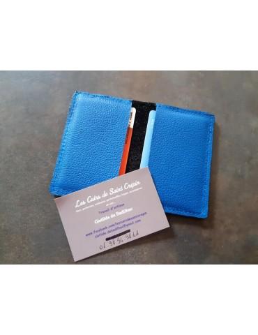 Porte cartes en cuir