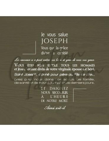 Toile ou affiche - Je vous salue Joseph