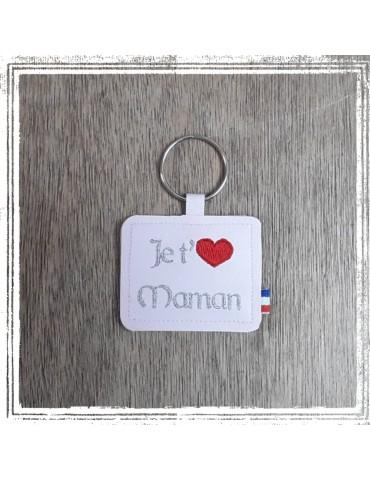 """Porte clés à message """"Je t'M ..XXX"""" (personnalisable!)"""