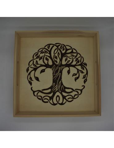 """Plateau carré 32 cm """"arbre..."""