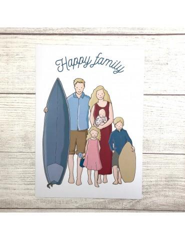 Illustration Portrait Famille