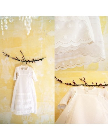 "Robe de baptême ""aux 3..."