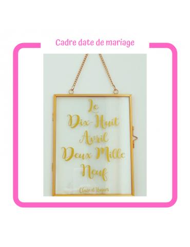 Cadre date de Mariage