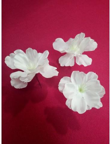 """Epingles  chignon mariée, modèle """"Fleurs de pommier"""", vendues par trois"""