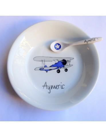 Vaisselle avion bi-plan...